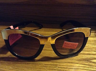 Betsey Johnson Black and gold women's sunglasses New