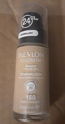 Revlon Colorstay Makeup Foundation '150 Buff' Normal/Dry Skin 1.0oz/30ml New