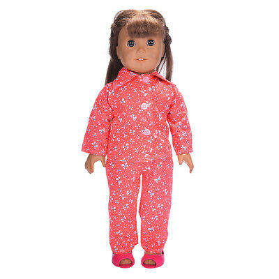 Dolls Pajamas Sleepwear Clothes Fit 18'' Our Generation American Girl Doll#I