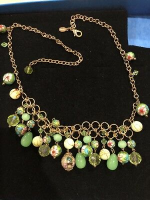 Chinese Exquisite Cloisonne painted Necklace