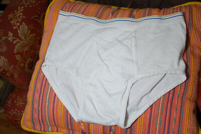 Vintage TOWNCRAFT Men's Brief Full-Cut Men's Underwear White Size 40