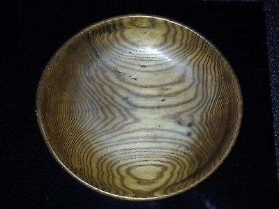 """oval wooden bowl 9x8.25x 2"""" h."""