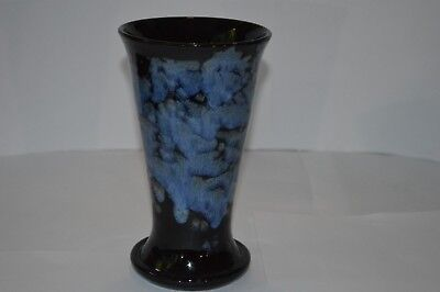 Vintage  Ewenny Potteries Blue Glaze Vase  Made In Wales