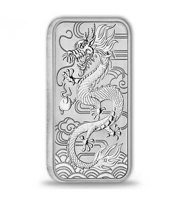2018 Australian Dragon Rectangular 1oz Silver Bar Coin.....