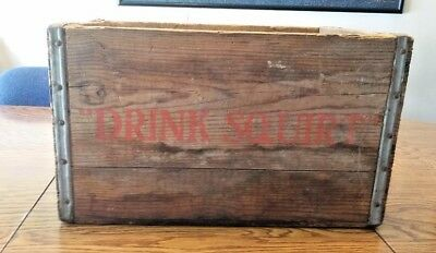 Vintage Drink Squirt Wooden Crate Newberry Bottling Michigan