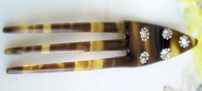 Vintage  Faux Tortoise Color Lucite Hair comb