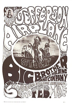 Jefferson Airplane 1966 FD 1 TRIBAL STOMP Family Dog Fillmore Poster