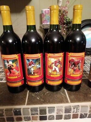 KC Chiefs Legends Gridiron Cuvee Wine Bottles, Set of 4