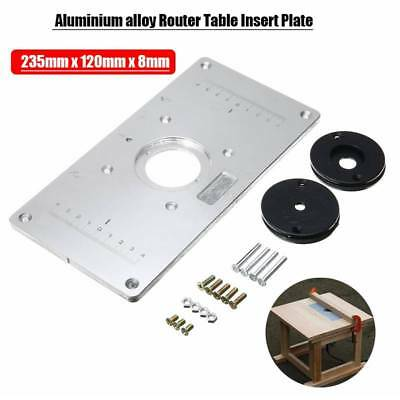 Aluminum router table insert plate 4ring screws for woodworking aluminum alloy router table insert plate 4 rings screws woodworking benches greentooth Choice Image