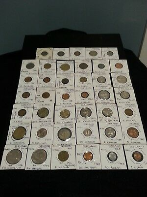 lot of 41 coin coins Iceland 1922 - 2005. Many BU /AU