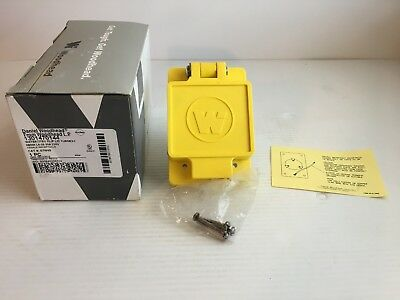 Woodhead Watertite Flip Lid Receptacle Nema L6-20 67W48 250 Volt 20 amp