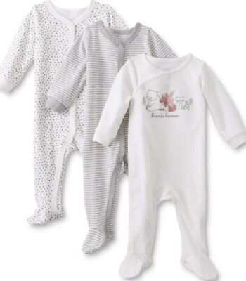 NWOT LOT OF (3) BABY BOY 1pc. SLEEP N' PLAY PAJAMAS -MULTIPLE SIZES AVAILABLE