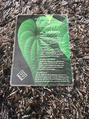 RARE Authentic 1997 Enron Employee Vision & Values Laminated Placard!!