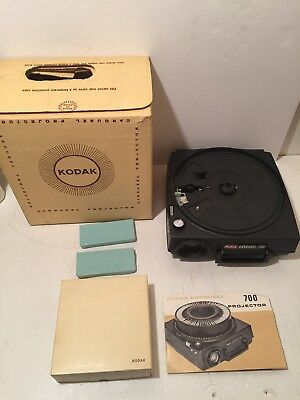 Kodak Carousel Slide Projector Model #700 for parts only. Selling AS-IS