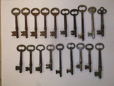 Lot of 19 Antique Vintage Old Original Skeleton Keys From Local Farmstead Estate