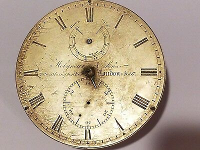 Ca 1850 Robert Molyneux & Sons ship's Chronometer movement- brass dial- No 1607