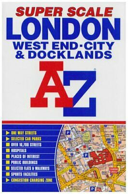 Super Scale Street Atlas of Inner London and Docklands (Street... Paperback Book