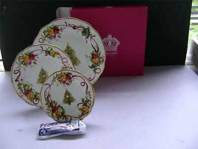"""Fabulous 3 Tier Cake Stand in """"Old Country Roses Christas Tree"""" by Royal Albert."""