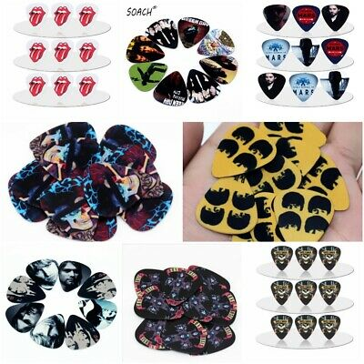Multiple Style Rock Band Guitar Picks Lot of 10 1.0 MM Thick New Free Tracking