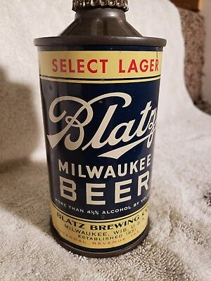 Stellar 1936 Blatz cone top beer can....inverted rib spout/flat bottom!