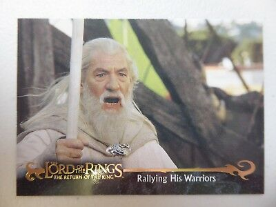 TOPPS Card : LOTR The Return Of The King  #50 RALLYING HIS WARRIORS