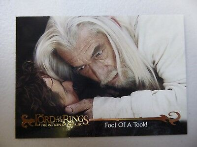 TOPPS Card : LOTR The Return Of The King  #24 FOOL OF A TOOK!
