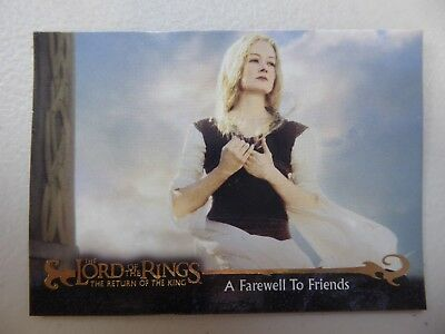 TOPPS Card : LOTR The Return Of The King  #28 A FAREWELL TO FRIENDS