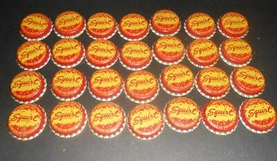 Lot Of 28 Vintage NOS SQUIRT Soda Pop Bottle Cork Lined Caps With Splash Logo