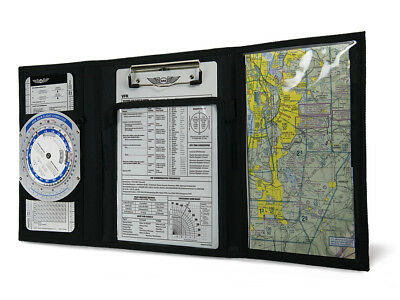REDESIGNED VFR TRI FOLD PILOT KNEEBOARD  by ASA p/n ASA-KB-3A New Version
