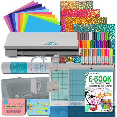 Silhouette Cameo 3 Machine Vinyl Sheets Siser HTV Pens, Cover and Dust Cover