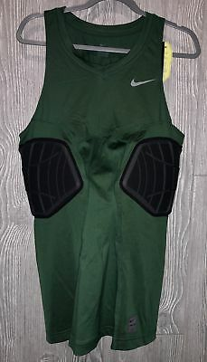 b0ecc88be NIKE Pro Combat Elite Padded Dark Green Basketball Compression Tank Top Mens  2XL