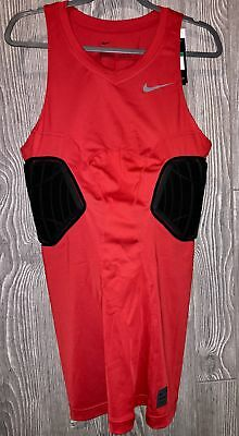 416654eaa1a0fc NIKE Pro Combat Elite Padded Red Black Basketball Compression Tank Top Mens  XLT