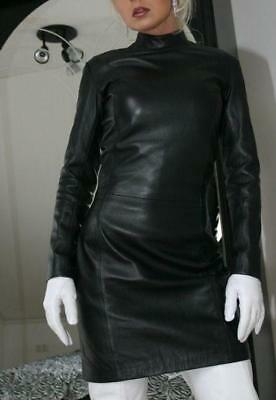 f900f18f62564 Women Real Lambskin Celebrity Leather Dress Plus Size Custom Made For  Valentines