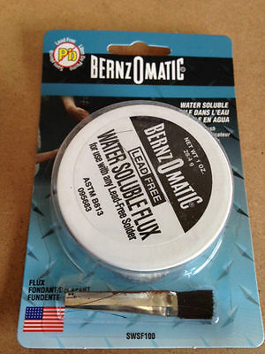 Bernzomatic Water Soluble Flux For Lead Free Solder 1 Oz 38 Gram