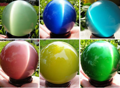 Hot Sell Asian Quartz Cat Eye Crystal Healing Ball Sphere 40-80Mm