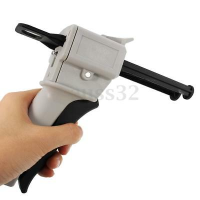 50ML AB Epoxy Glue Gun Applicator Glue Adhensive Gun Mixed 1:1 and 2:1 AB S240
