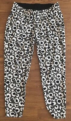 H&M Maternity Mama Casual Print Trouser Size M 12-14