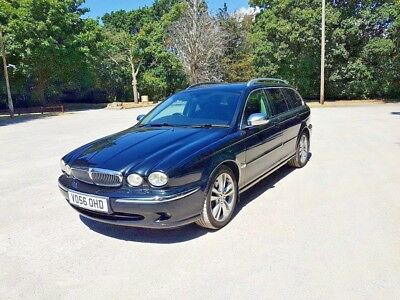 Jaguar X-Type Estate 2.0 SE Chrome Pack Metallic Black Leather Unmarked Tinted W