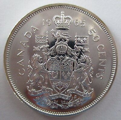 1965 Canada 50 Cents Proof-Like Half Dollar Silver Coin
