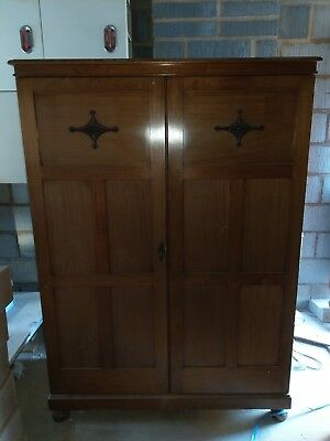Antique Double Wardrobe Made By Robson Newcastle
