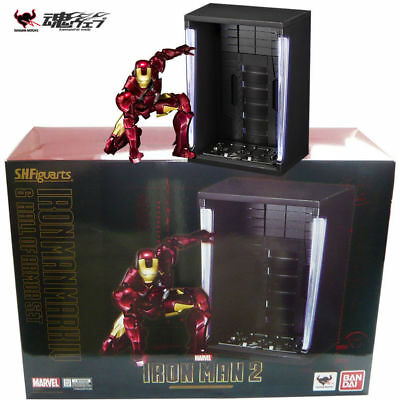 Bandai S.H. Figuarts Iron Man Mk. IV Mark 4 & Hall of Armor Set Action Figure
