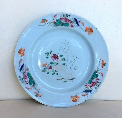 Antique 18Thc Chinese Famille Rose Hand Painted Plate