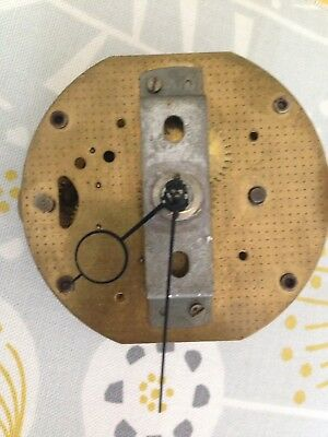 Smiths CLOCK  PARTS ,  BRASS  CLOCK MOVEMENT , With Winder And Original Hands.