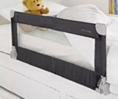 MAMAS & PAPAS Dark Grey Portable Bed Rail Baby Infant Cot Foldable Guard Barrier