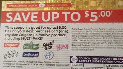 Save $5  Colgate-Palmolive Coupon