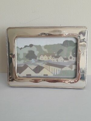 925 Sterling Silver Photo Frame 16 x 12 cm. Wavy lines around the silver. Import