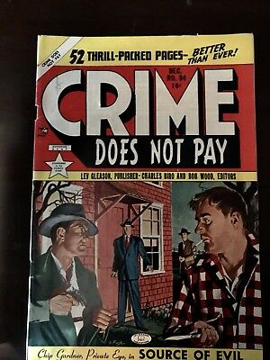 Crime Does Not Pay # 94 VGood 1947 Detective Golden Age