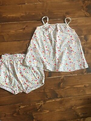 H&m Girls 4-6 Months Top & Shorts Set