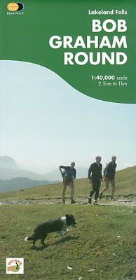 Bob Graham Round walk run Lake District by Harvey Maps Map/Guide 1: 40 000