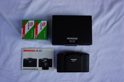 Kamera MINOX 35 GT mit Color-Minotar 1:2.8 f=35mm in Box inkl. 2 Filme